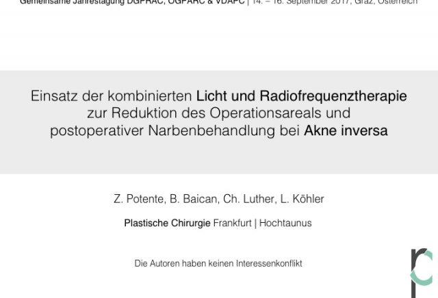 """Licht- und Radiofrequenztherapie """"lAight®-Therapie"""" – Behandlung von Akne inversa"""